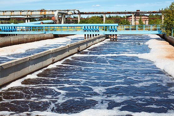 In 2018, 73% of waste water discharged from the public sewage system was treated in the treatment plants