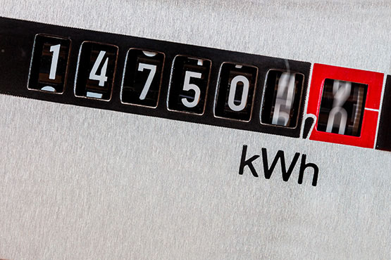 In January total consumption of electricity decreased by 5% over the same period one year ago